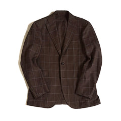 Ring Jacket Brown Check Jacket