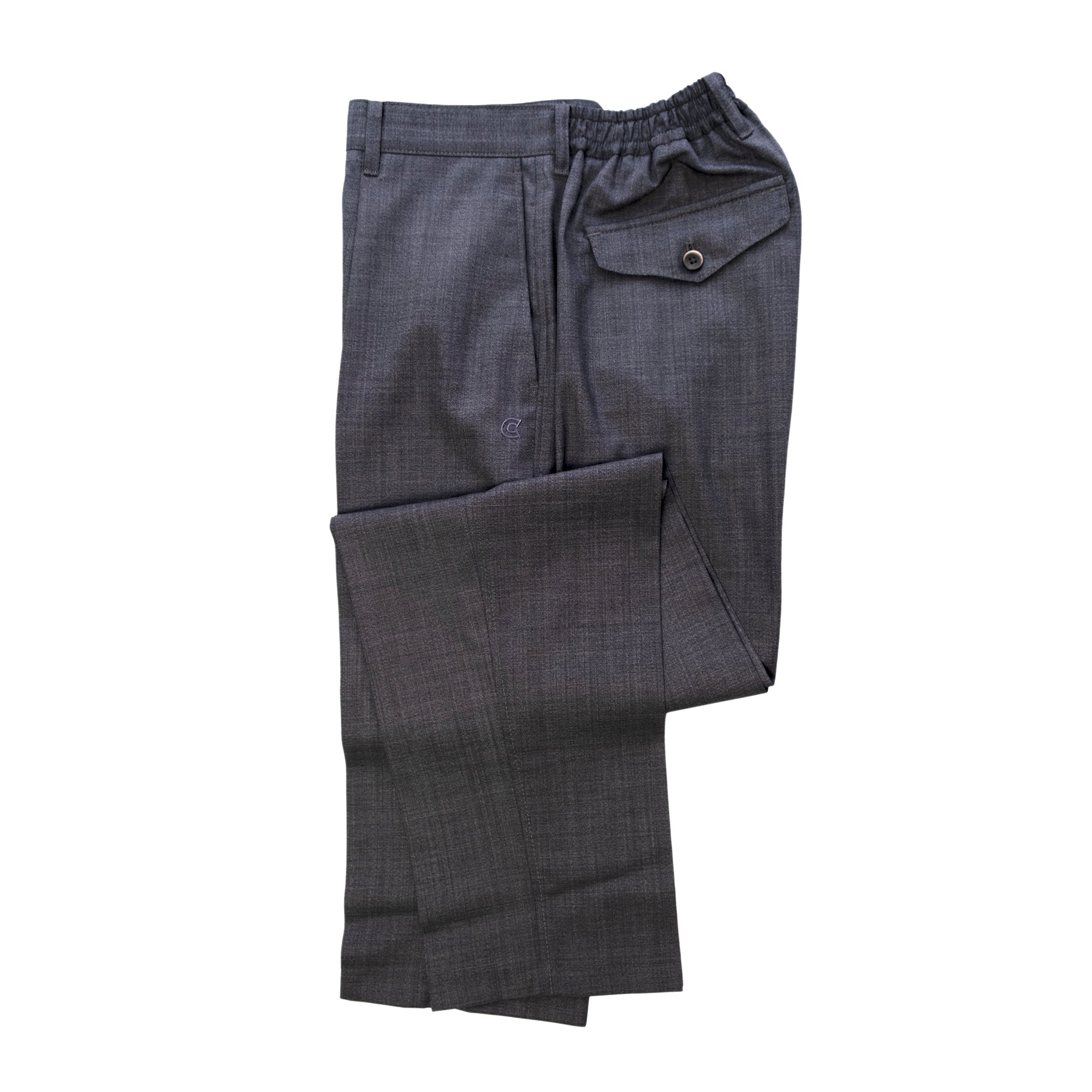 COLONY CLOTHING / ONE PLEAT TROUSERS SHARK SKIN  / CC21-PT01-1