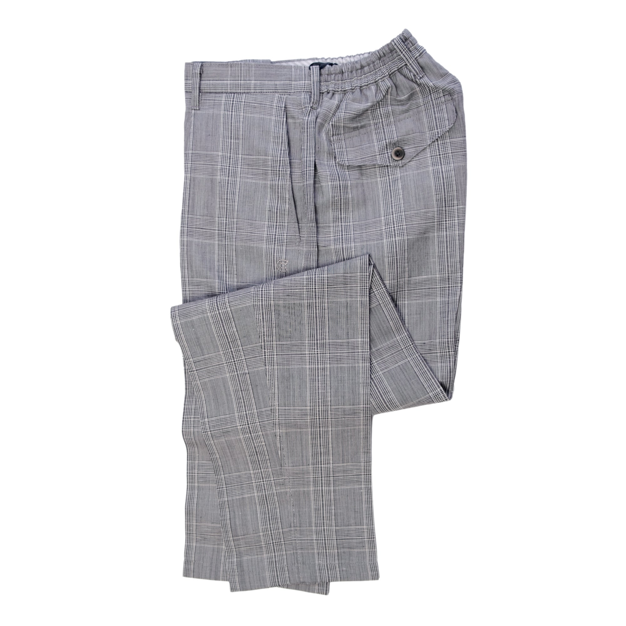 COLONY CLOTHING / ONE-PLEAT GLEN CHECK VBC TROUSERS  / CC21-PT01-4