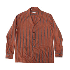 Salvatore Piccolo ; Orange Striped Shirt-Jacket ; EA23-CU-MA2