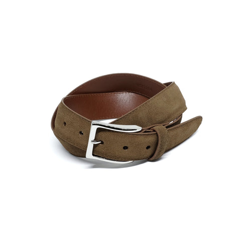 ALDEN MB5214 35mm Snuff Suede Belt & Buckle