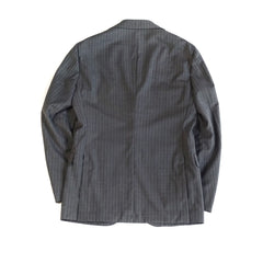 Ring Jacket Grey Striped Wool Suit