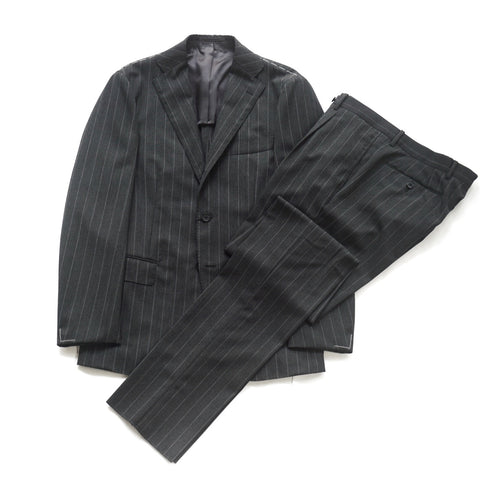 Ring Jacket Grey Stripe Suit