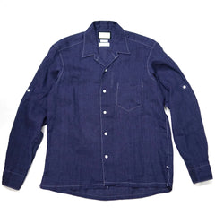 Colony Clothing Albini Linen Open Collar Shirt