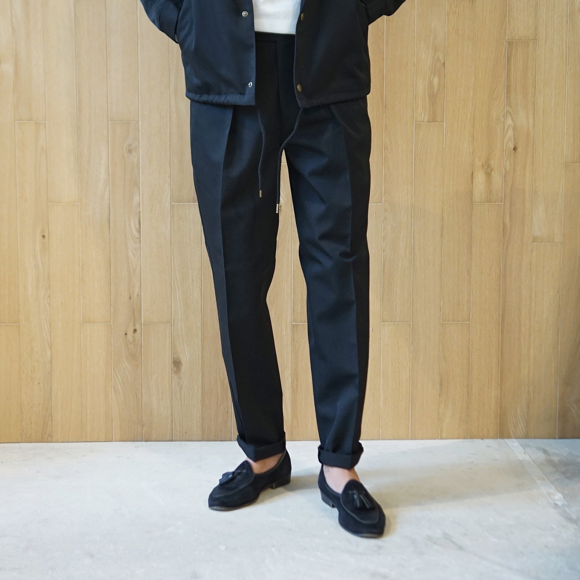 COLONY CLOTHING / WOOL ONE PLEATED PERENNIAL TROUSERS / CC20FW-PT02