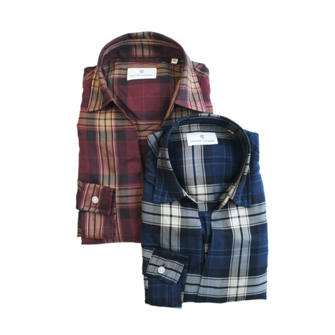 COLONY CLOTHING / POOL SIDE SHIRT PLAID CHECKS / CC21-SH02-3