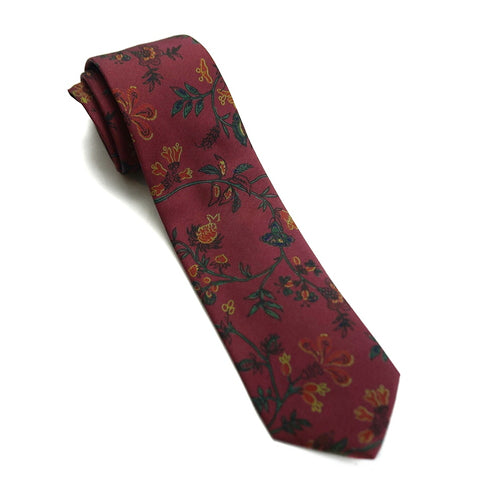 Drakes Tie - Red Floral