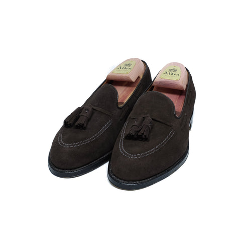 ALDEN 666 Tasssel Moccasin Dark Brown Suede
