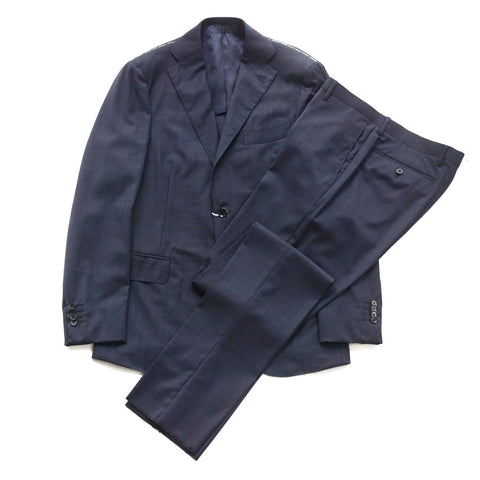 Ring Jacket REDA Navy Check Suit