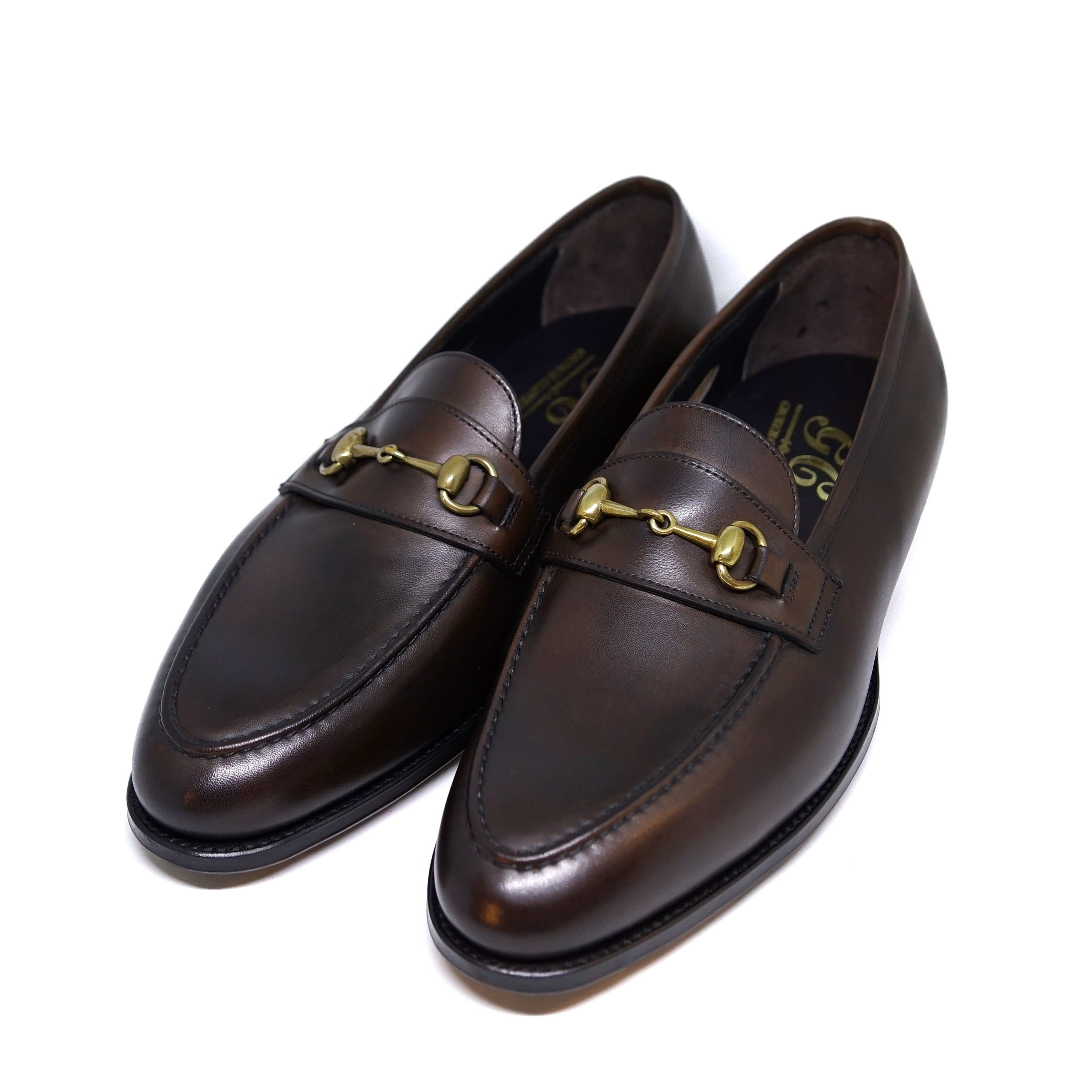 George Cleverley / The Colony Antique Dark Brown Loafers
