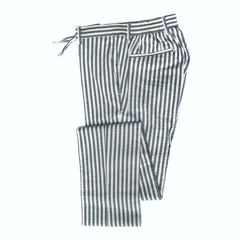 Germano Seersucker Stripe Grey Travel Pants ; 32BG