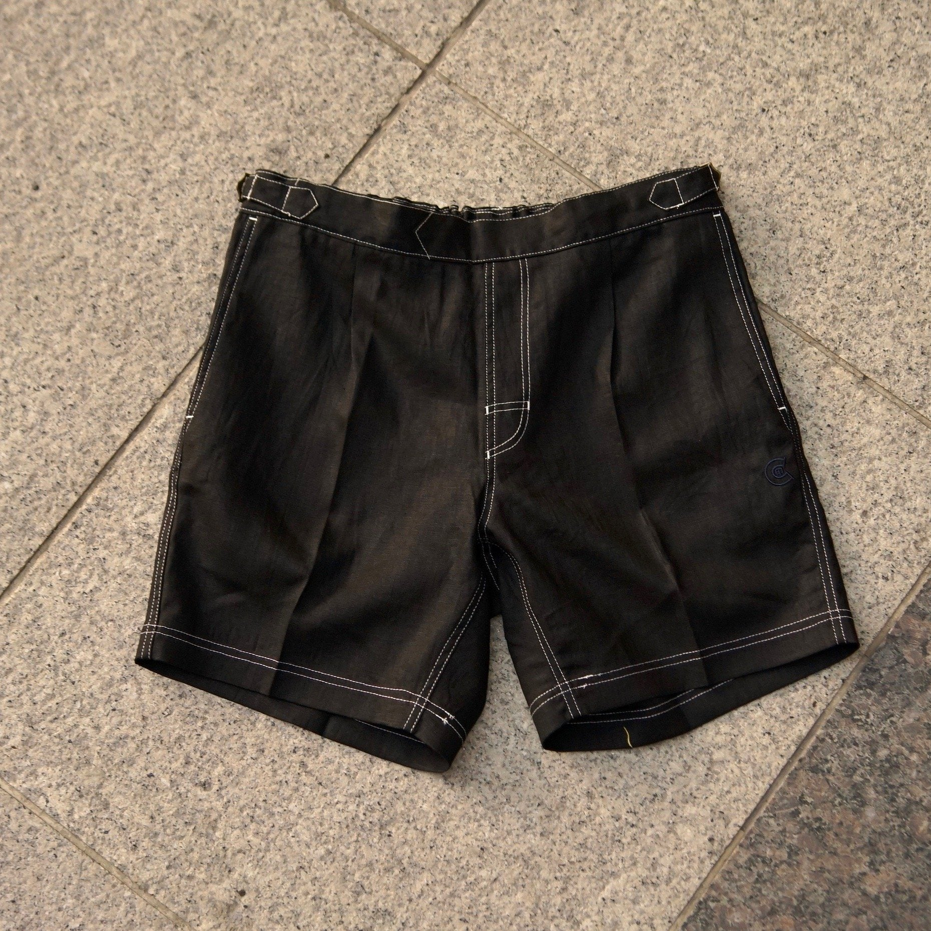 "TENBOX × COLONY CLOTHING ""Black Linen Shorts"""