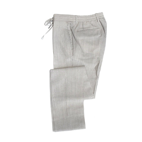 Germano Seersucker Stripe Beige Travel Pants ; 32BG