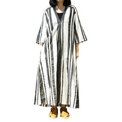 Xacus Striped Kaftan Dress