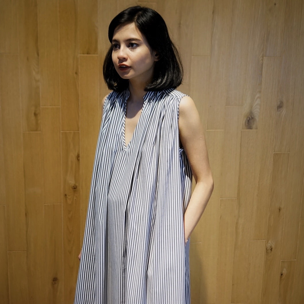 Xacus Stripe Blue Dress