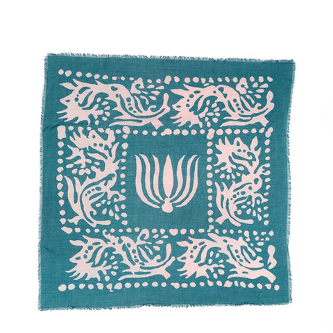 Lovat & Green Bali Turquoise Scarf