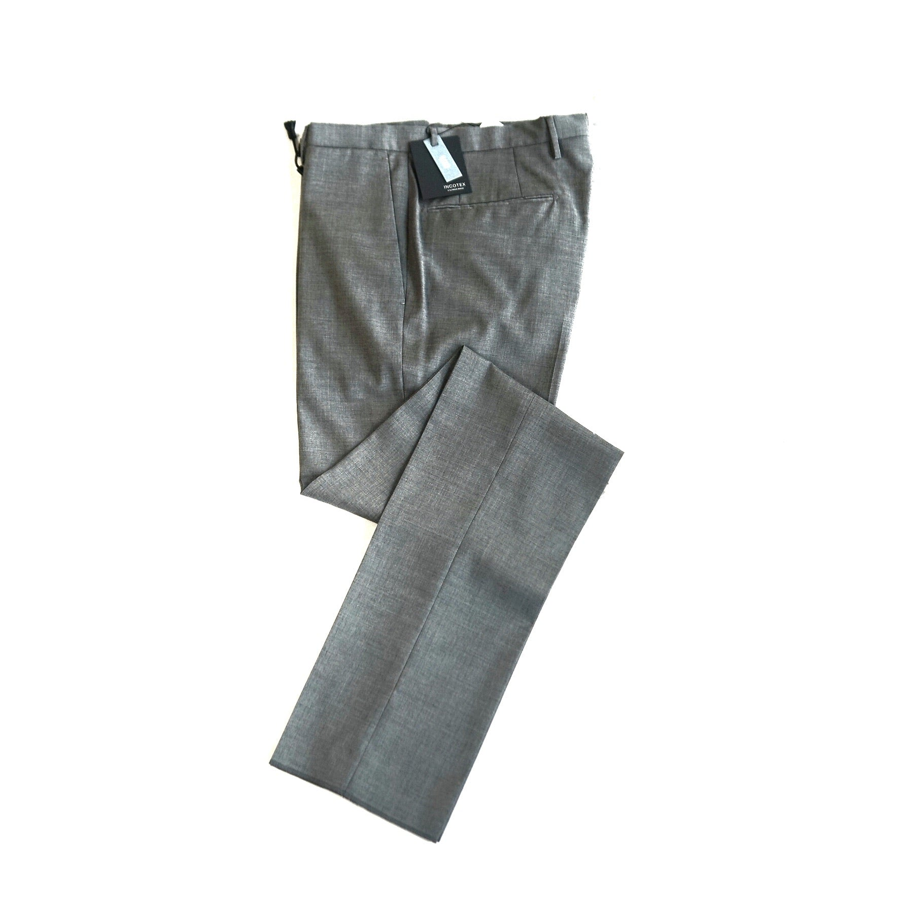 Incotex Slim Fit Grey Pants; 5006R