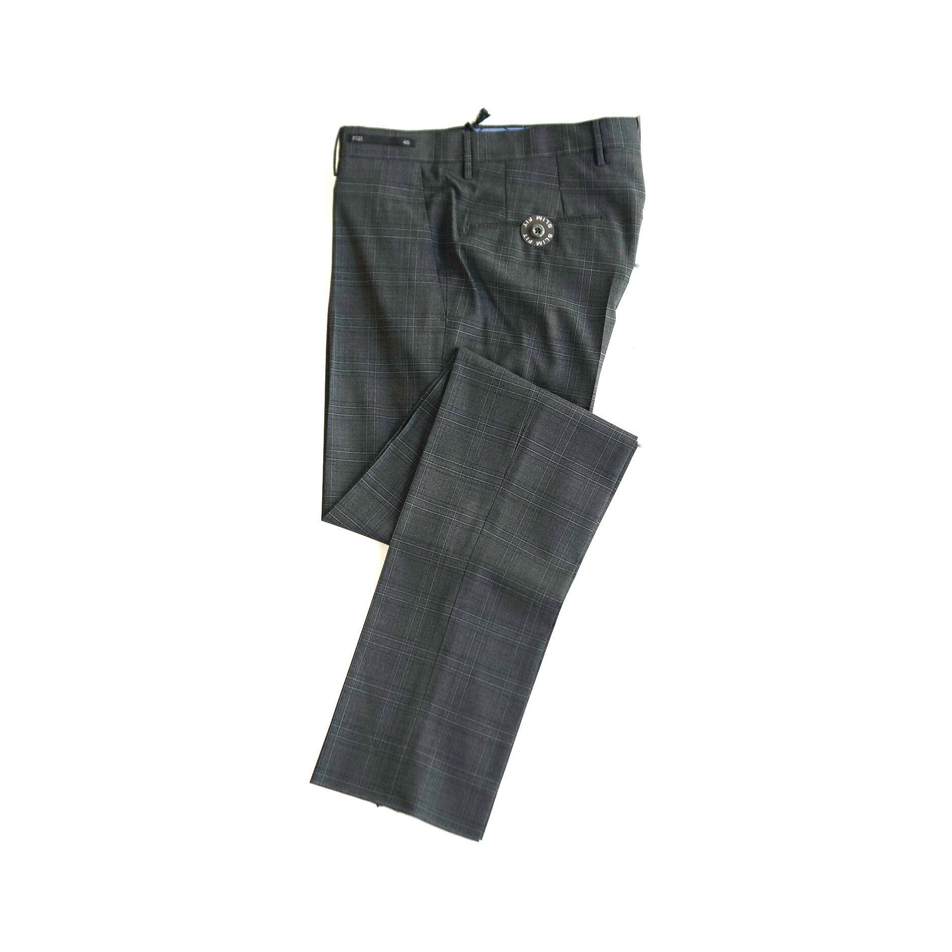 PT01 Travel Wool Checkered Grey Pants