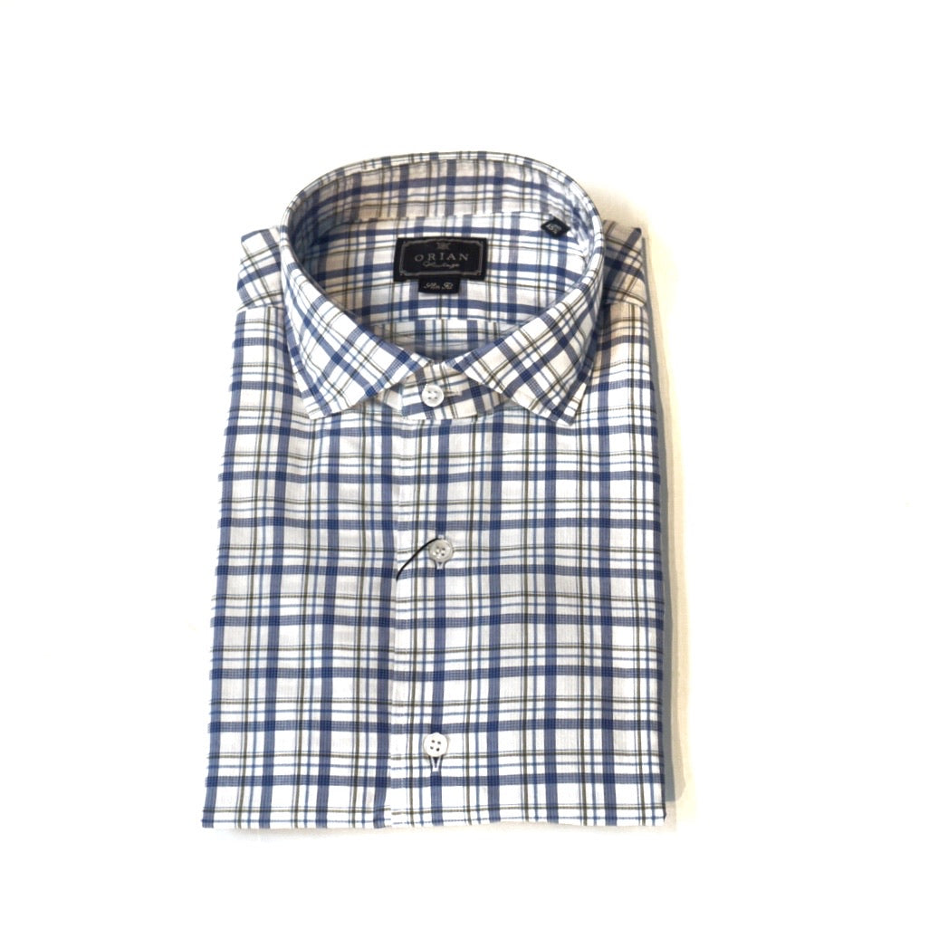 Orian Checkered Slim Fit Shirt; 02Q954