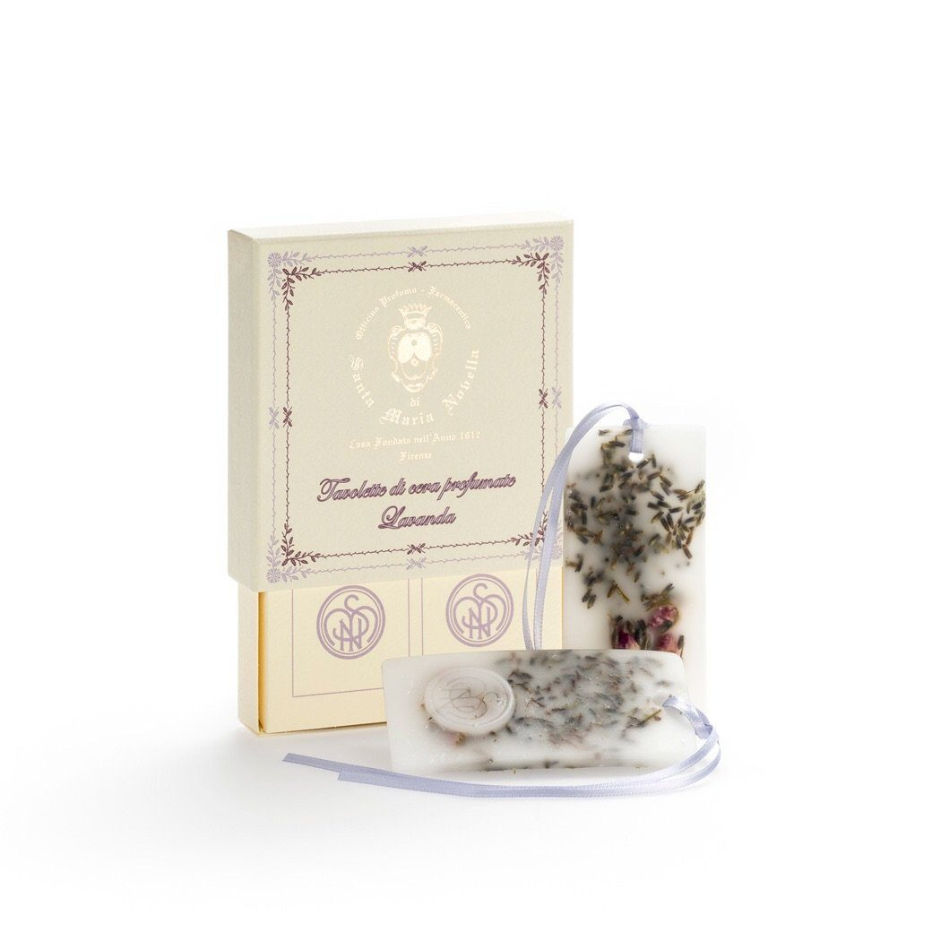 Santa Maria Novella LAVENDER SCENTED WAX TABLETS - box of 2 pcs