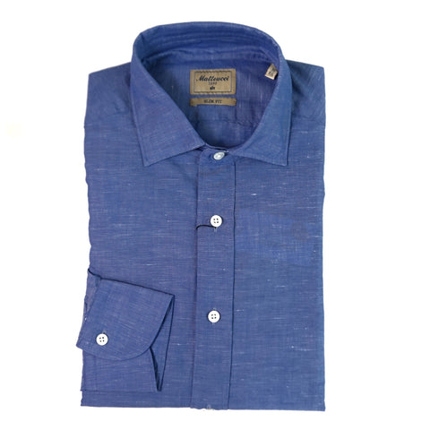 Matteucci Slim Fit Blue Shirt