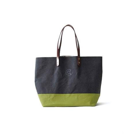 COLONY CLOTHING Black Green Canvas Tote Bag