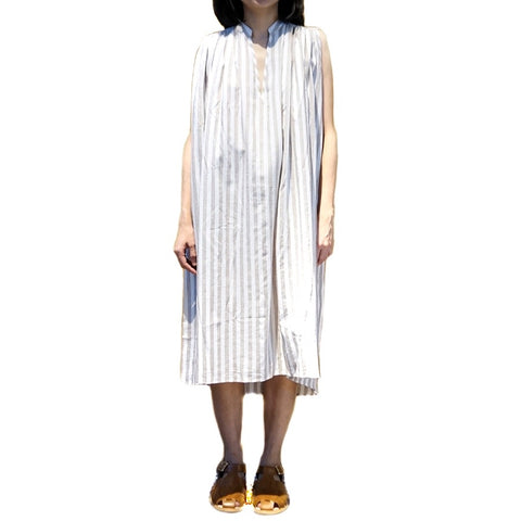 Xacus Stripe Beige Linen Dress