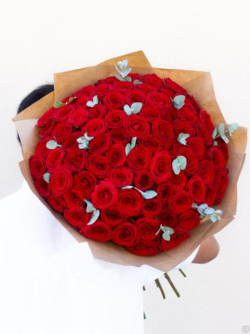 75 Red Rose Hand-tied