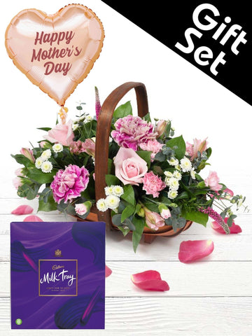 Alicia Flower Basket Gift Set