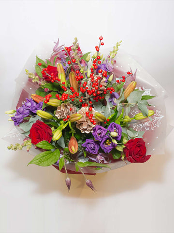 Purple And Red Festive Bouquet