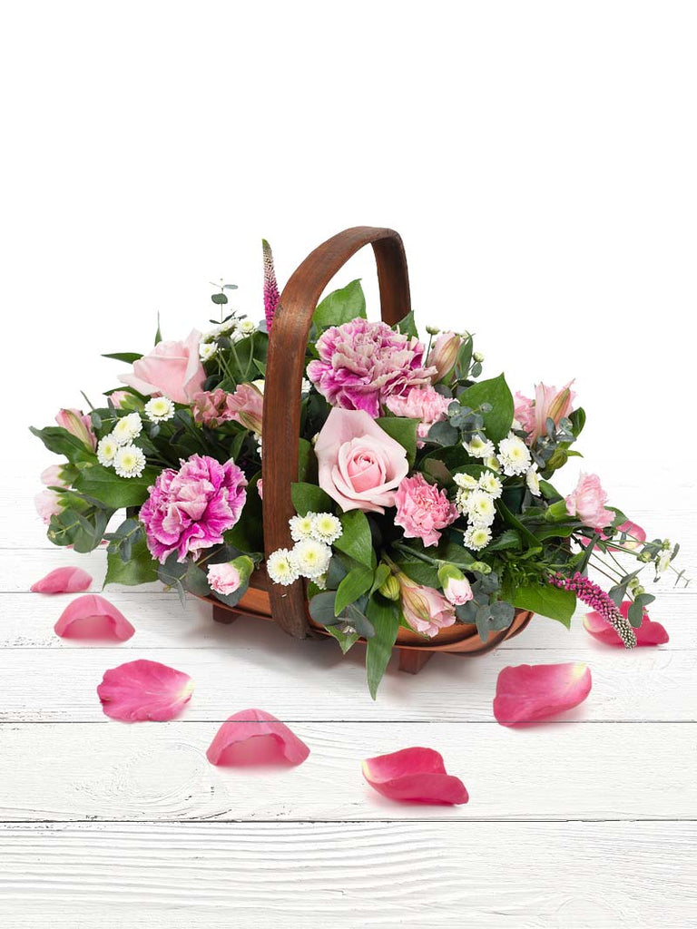 Alicia Flower Basket with Chocolates