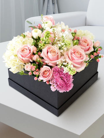 Pink Luxury Flower Hatbox