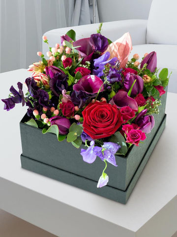 Rustic Luxury Flower Hatbox