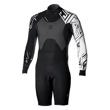 Mystic 2010 Crossfire 4/3 Shorty Longarm Steamer Wetsuit, Wetsuit, - Live2Kite