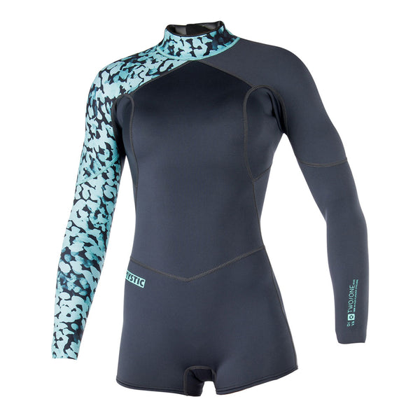 Mystic 2018 Women's Diva Longarm Shorty 2/1 Backzip Wetsuit, Wetsuit, - Live2Kite