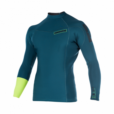 Mystic 2018 Majestic 1.5mm Long Sleeve Rash Vest, Rash Vest, - Live2Kite