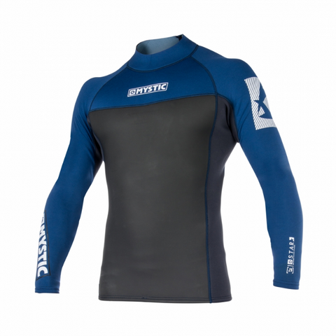 Mystic 2018 Star 2mm Long Sleeve Rash Vest, Rash Vest, - Live2Kite