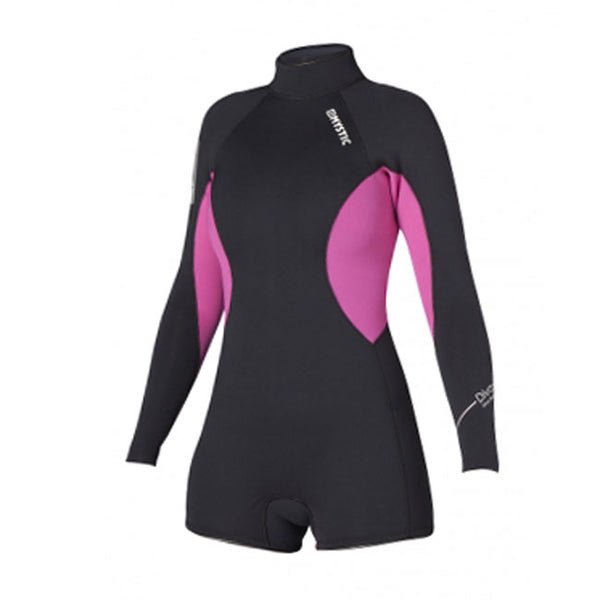 Mystic 2014 Women's Diva Longarm Super Shorty 3/2 Backzip Wetsuit, Wetsuit, - Live2Kite