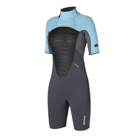 Mystic 2014 Women's Star 3/2 Shorty Flatlock Backzip Wetsuit, Wetsuit, - Live2Kite
