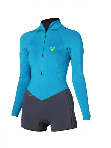 Mystic 2015 Women's Diva Super Shorty Longarm Frontzip Wetsuit Black Friday, Wetsuit, - Live2Kite