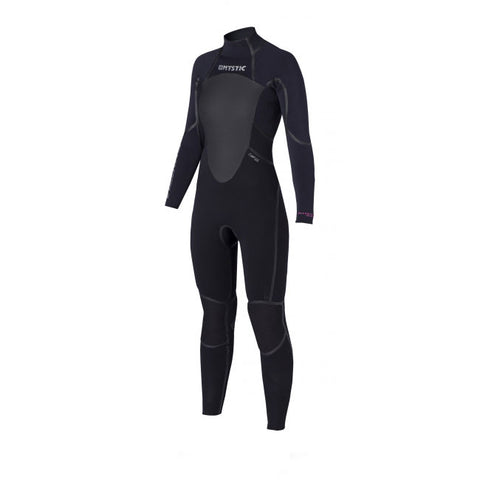 Mystic 2016 Women's Black Star 5/4 Fullsuit Backzip Wetsuit, Wetsuit, - Live2Kite