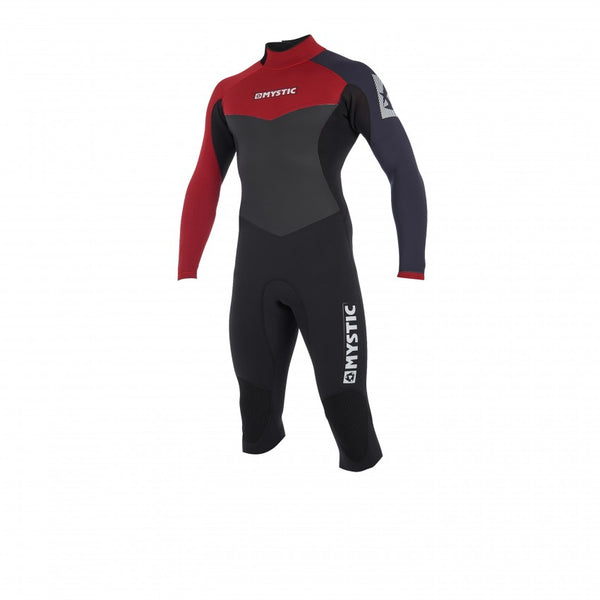 Mystic 2019 Drip Longarm Shortleg 4/3 Backzip, Wetsuit, - Live2Kite