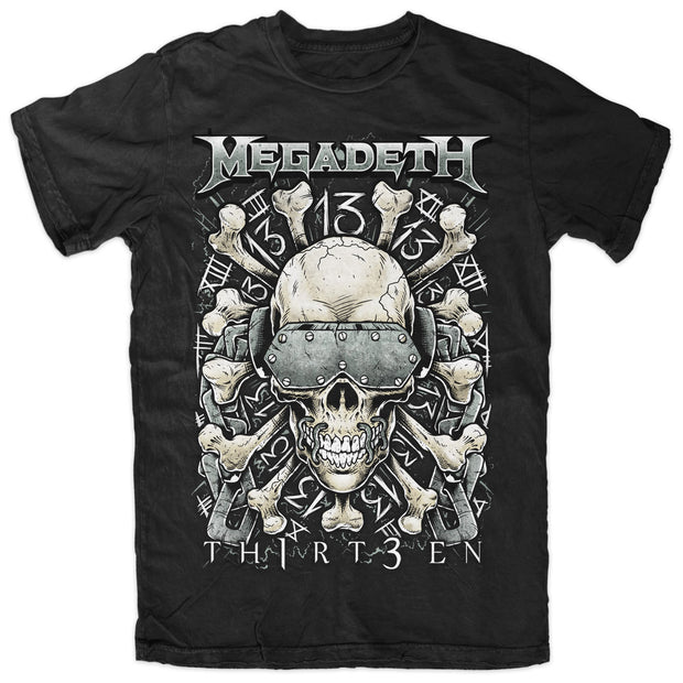 Megadeth Th1rt3en Bones tee