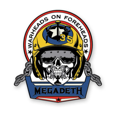 Warheads on Foreheads Enamel Pin-Megadeth