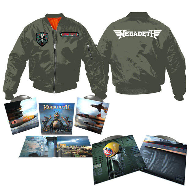 Warheads on Foreheads Album & Flight Jacket Bundle-Megadeth