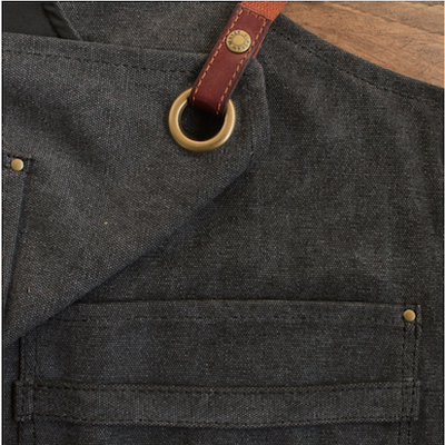 TABLIER COTON VINTAGE - DENIM NOIR