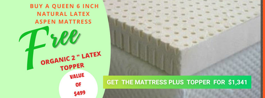 NATURAL ASPEN MATTRESS - 100% NATURAL LATEX