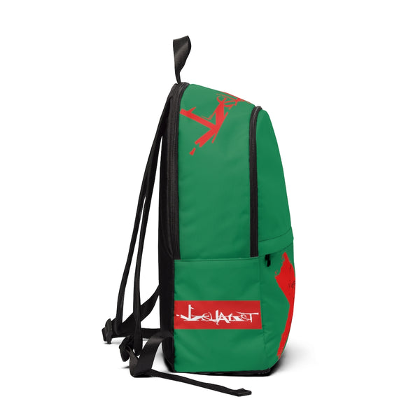 Detroit RED - Unisex Fabric Backpack(GREEN)