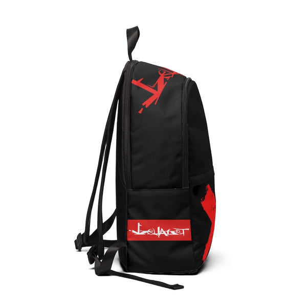 Detroit RED - Unisex Fabric Backpack(BLACK)
