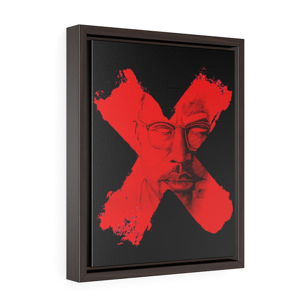 """X"" - Vertical Framed Premium Gallery Wrap Canvas"